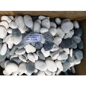 Ornamental boulders mix black / white