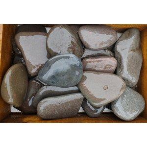 Decorative boulders flat gray 80-100mm