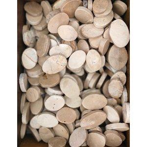 Ornamental boulders oval flat light brown