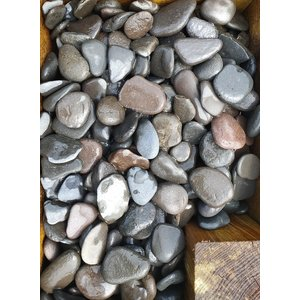Sierkeien plat grijs 3-5cm.