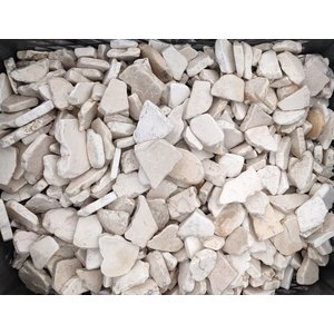 Ornamental boulders flat mosaic cream