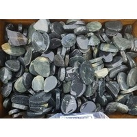 Ornamental boulders slices mix black-gray