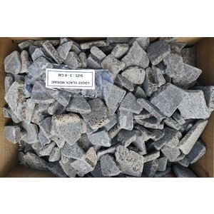 Ornamental boulders flat mosaic black gray