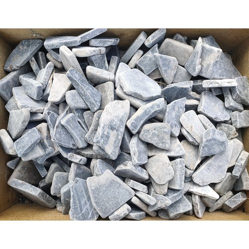 Sierkeien plat mozaiek licht grijs mix