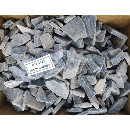 Sierkeien plat mozaiek grijs