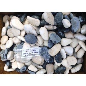 Ornamental boulders mix black / white / brown