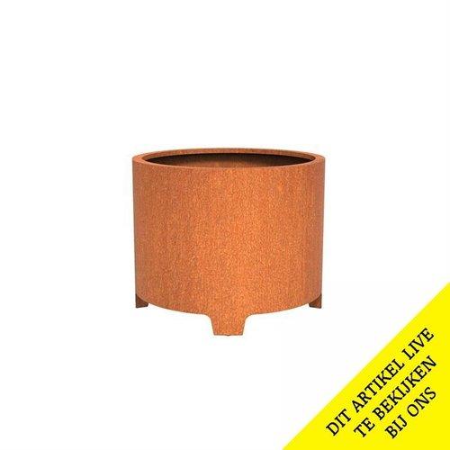 Adezz Producten Pflanzer Corten Stahl Rundatlas mit Beinen 100x80cm