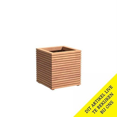 Adezz Producten Plantenbak Hardhout Vierkant Malaga Rhombus 60x60x61cm