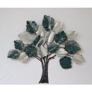 Muurdecoratie metaal 3D Sprookjesboom