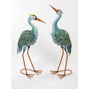 Metal figure set herons 70cm