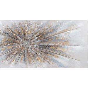 Schilderij canvas straal uit zijkant 100x50cm