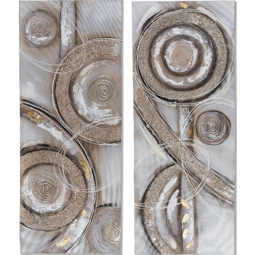 Painting canvas diptych abstract 80x100cm