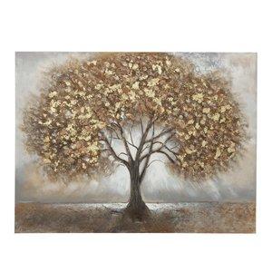 Malleinwand Baum braun 120x90cm