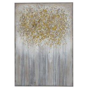 Schilderij canvas  Goud loof 70x100cm