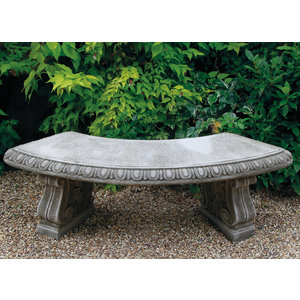 Dragonstone Garden bench curved with classic legs