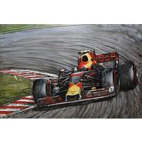 Schilderij 3d Metaal Max verstappen Formule 1 80x120cm
