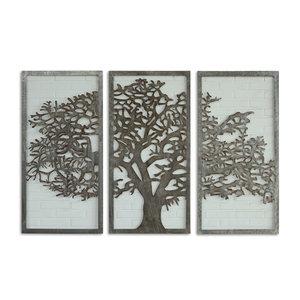 Eliassen Wanddeko Triptychon Baum 180x120cm