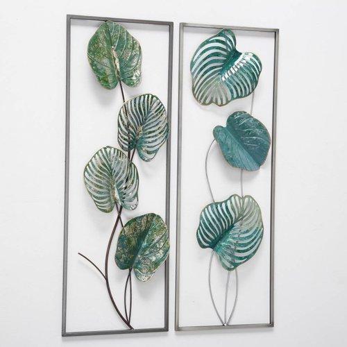 Eliassen Muurdecoratie 3d tweeluik Bavaro bladeren