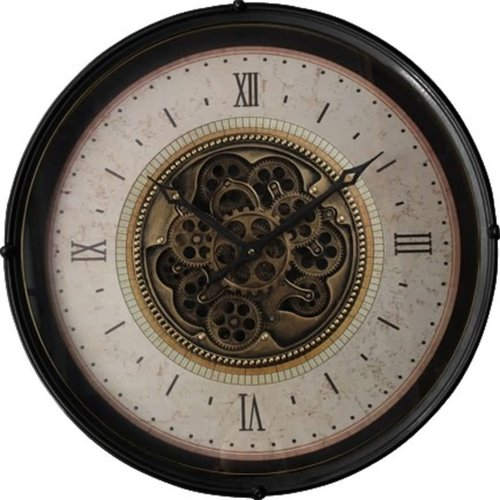 Wall clock with rotating gears around 60cm