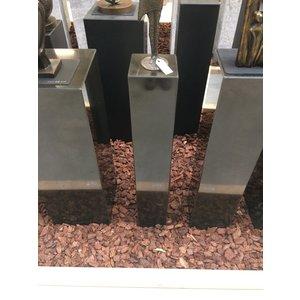 Eliassen Pedestal black granite polished 15x15x90cm high