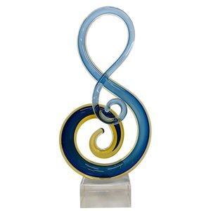 Glas sculptuur Blauw