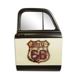 Wall decoration Car door with mirror Route 66