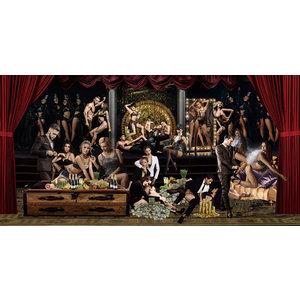 Glasmalerei Nackte Frauen 80x160cm