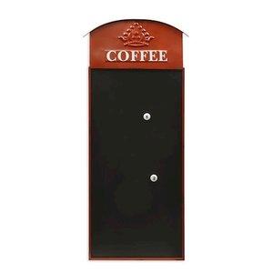Muurdecoratie Memobord Koffie 39x88cm