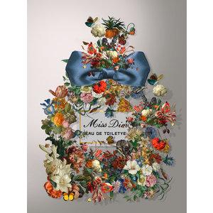 Glasschilderij Miss Dior 60x80cm