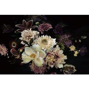 Glasschilderij Bloemenpracht 80x120cm.