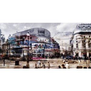 Glasschilderij Merken stad 80x160cm