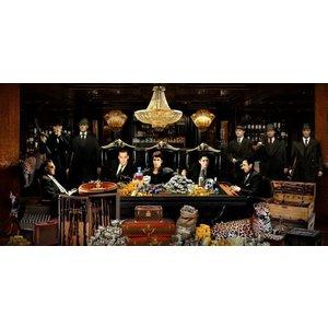 Glass painting Luxury casino 80x160cm