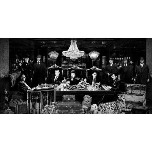 Glasschilderij Luxe casino zwart-wit 80x160cm