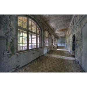 Glass painting Dilapidated hall 110x160cm.