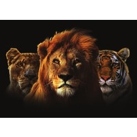Glass painting Trio cats 110x160cm.