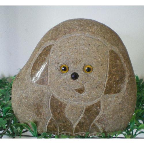 Honden urn hond  met poten 20cm