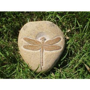 Stenen beeld Libelle 15cm
