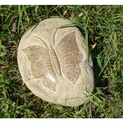 Stenen beeld Vlinder 15cm