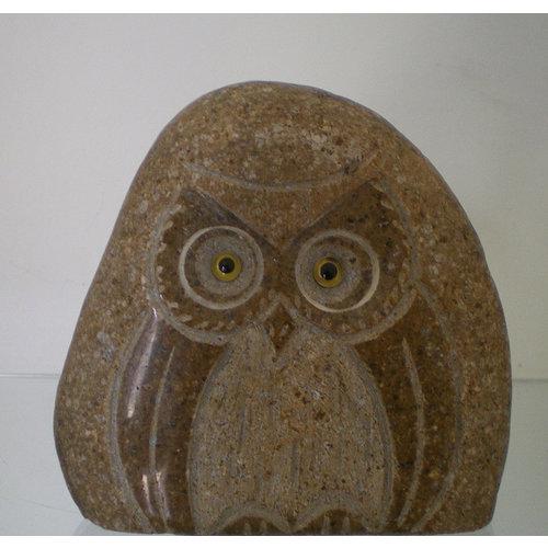 Stenen beeld uil 15cm