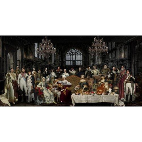 Glasschilderij Famous people 80x160cm.