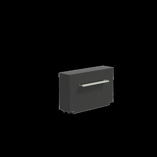 Adezz Producten Adezz Vijver Muren (Vast) (Incl. Waterfall 600 + VP3 Pump) Aluminium Rechthoek 100x25x60cm