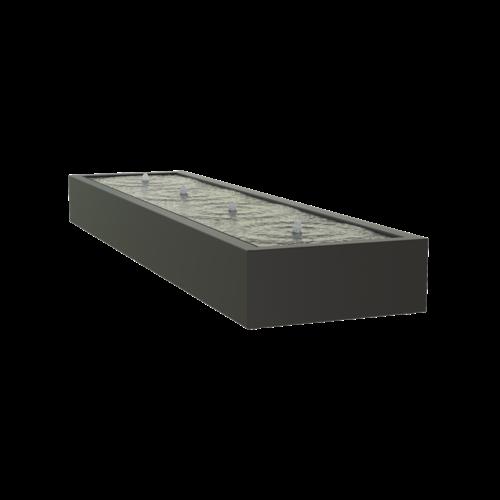 Adezz Producten Adezz Watertafel Aluminium Rechthoek 400x100x40cm