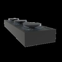 Adezz Watertafel Aluminium Met Schalen 400x100x40cm