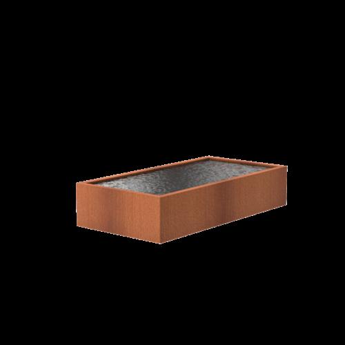 Adezz Producten Adezz Vijver Cortenstaal Rechthoek 300x150x60cm