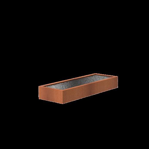 Adezz Producten Adezz Vijver Cortenstaal Rechthoek 300x100x40cm