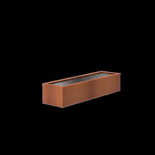 Adezz Producten Adezz Vijver Cortenstaal Rechthoek 300x80x60cm