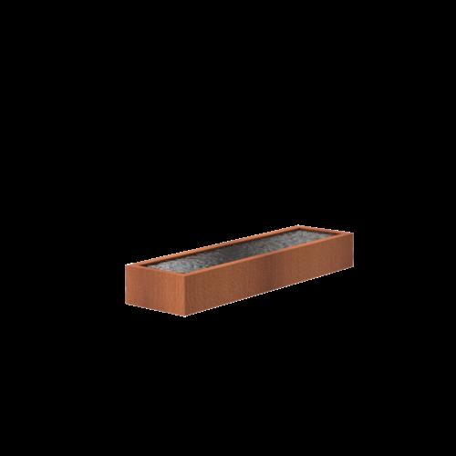 Adezz Producten Adezz Vijver Cortenstaal Rechthoek 300x80x40cm