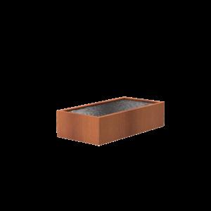 Adezz Producten Adezz Vijver Cortenstaal Rechthoek 250x120x60cm