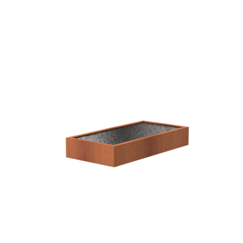Adezz Producten Adezz Vijver Cortenstaal Rechthoek 250x120x40cm