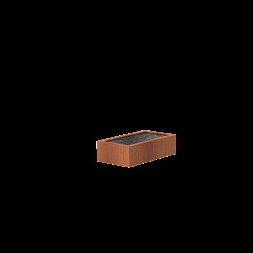 Adezz Producten Adezz Vijver Cortenstaal Rechthoek 150x80x40cm